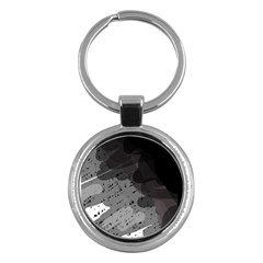 Black and gray pattern Key Chains (Round)