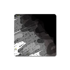 Black and gray pattern Square Magnet