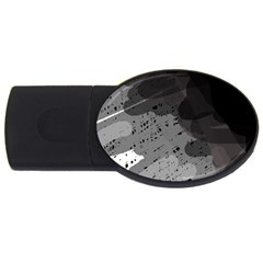 Black and gray pattern USB Flash Drive Oval (1 GB)