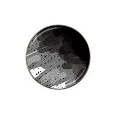 Black and gray pattern Hat Clip Ball Marker