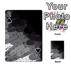 Black and gray pattern Playing Cards 54 Designs