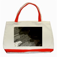 Black and gray pattern Classic Tote Bag (Red)