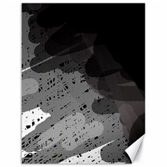 Black and gray pattern Canvas 18  x 24