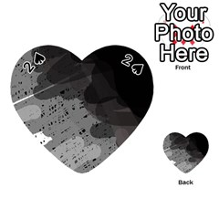 Black and gray pattern Playing Cards 54 (Heart)