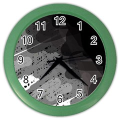 Black and gray pattern Color Wall Clocks