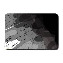 Black and gray pattern Small Doormat