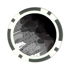 Black and gray pattern Poker Chip Card Guards