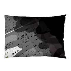 Black and gray pattern Pillow Case