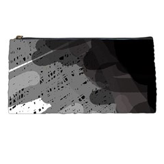 Black and gray pattern Pencil Cases