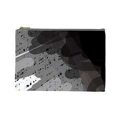 Black and gray pattern Cosmetic Bag (Large)