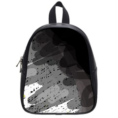 Black and gray pattern School Bags (Small)