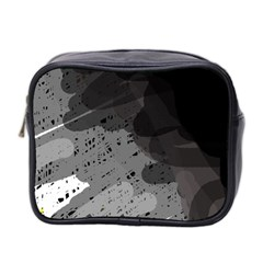Black and gray pattern Mini Toiletries Bag 2-Side