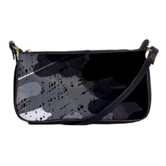 Black and gray pattern Shoulder Clutch Bags