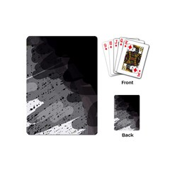 Black and gray pattern Playing Cards (Mini)