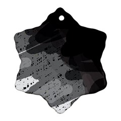 Black and gray pattern Ornament (Snowflake)