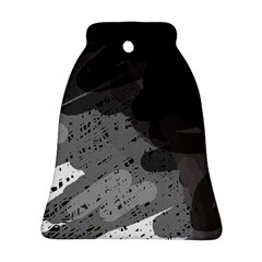 Black and gray pattern Bell Ornament (2 Sides)