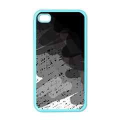 Black and gray pattern Apple iPhone 4 Case (Color)