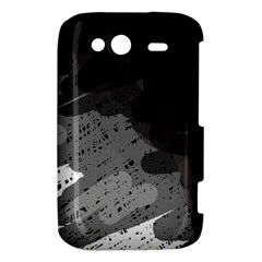 Black and gray pattern HTC Wildfire S A510e Hardshell Case