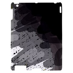 Black and gray pattern Apple iPad 2 Hardshell Case