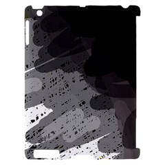 Black and gray pattern Apple iPad 2 Hardshell Case (Compatible with Smart Cover)