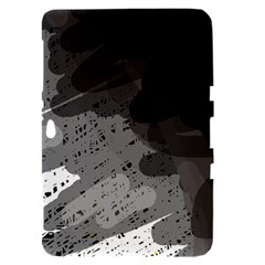 Black and gray pattern Samsung Galaxy Tab 8.9  P7300 Hardshell Case