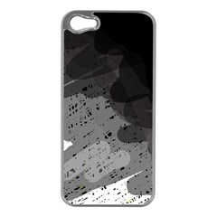Black and gray pattern Apple iPhone 5 Case (Silver)