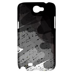 Black and gray pattern Samsung Galaxy Note 2 Hardshell Case