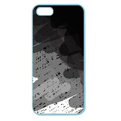 Black and gray pattern Apple Seamless iPhone 5 Case (Color)