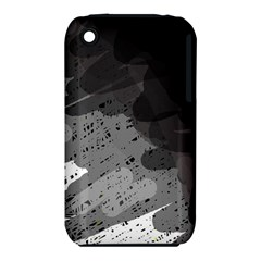 Black and gray pattern Apple iPhone 3G/3GS Hardshell Case (PC+Silicone)