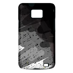 Black and gray pattern Samsung Galaxy S II i9100 Hardshell Case (PC+Silicone)