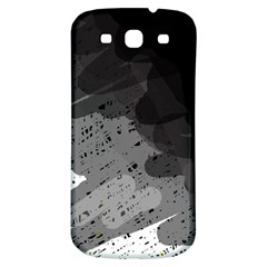 Black and gray pattern Samsung Galaxy S3 S III Classic Hardshell Back Case