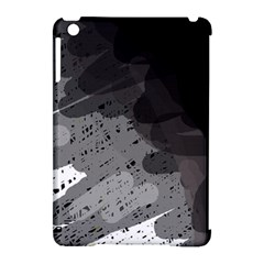 Black and gray pattern Apple iPad Mini Hardshell Case (Compatible with Smart Cover)