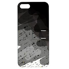 Black and gray pattern Apple iPhone 5 Hardshell Case with Stand