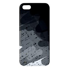 Black and gray pattern Apple iPhone 5 Premium Hardshell Case