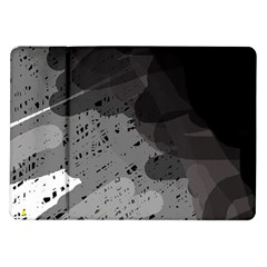 Black and gray pattern Samsung Galaxy Tab 10.1  P7500 Flip Case
