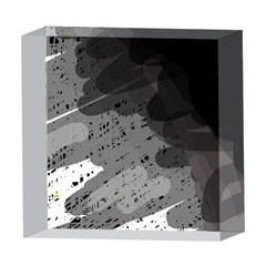 Black and gray pattern 5  x 5  Acrylic Photo Blocks