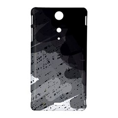 Black and gray pattern Sony Xperia TX
