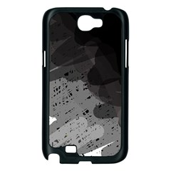 Black and gray pattern Samsung Galaxy Note 2 Case (Black)
