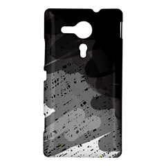 Black and gray pattern Sony Xperia SP