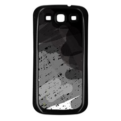 Black and gray pattern Samsung Galaxy S3 Back Case (Black)