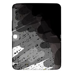 Black and gray pattern Samsung Galaxy Tab 3 (10.1 ) P5200 Hardshell Case