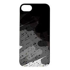 Black and gray pattern Apple iPhone 5S/ SE Hardshell Case