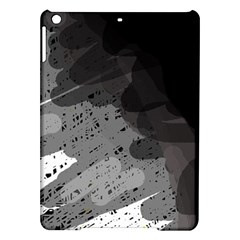 Black and gray pattern iPad Air Hardshell Cases