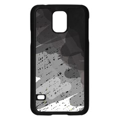 Black and gray pattern Samsung Galaxy S5 Case (Black)