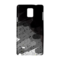 Black and gray pattern Samsung Galaxy Note 4 Hardshell Case
