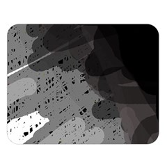 Black and gray pattern Double Sided Flano Blanket (Large)