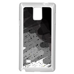Black and gray pattern Samsung Galaxy Note 4 Case (White)