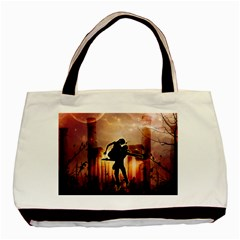 Dancing In The Night With Moon Nd Stars Basic Tote Bag (Two Sides)