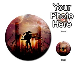 Dancing In The Night With Moon Nd Stars Multi-purpose Cards (Round)