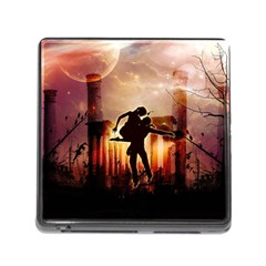 Dancing In The Night With Moon Nd Stars Memory Card Reader (Square)